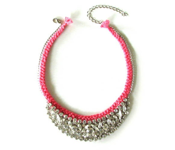 Misty Rose Crystal Necklace