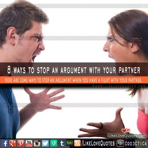 8 ways stop relationship fights