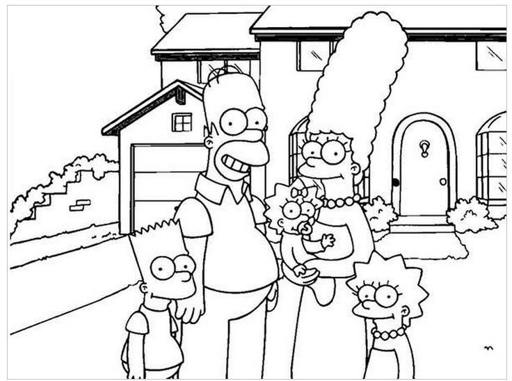 the simpsons coloring book pages - photo#24