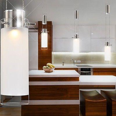 Vetro Lampadario A Sospensione LED Casa Ingresso Soffitto Illuminazione