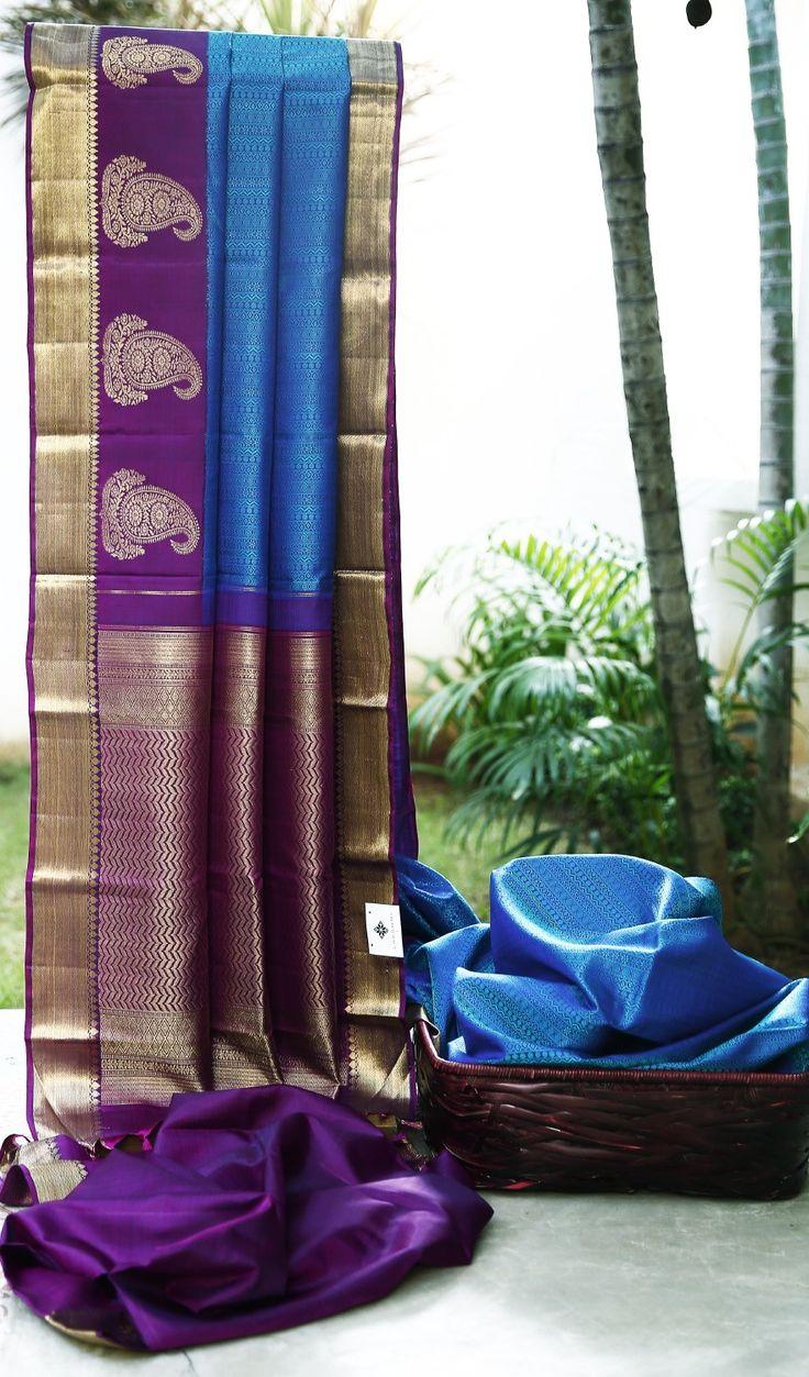 Lakshmi Handwoven Kanjivaram Silk Sari 1000113 - Sari / Kanjivarams - Parisera