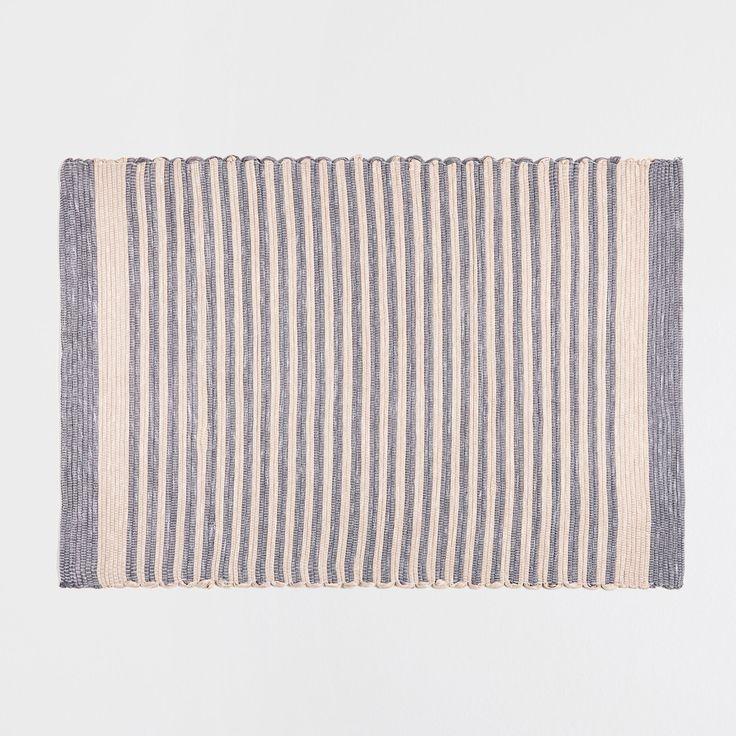 TWO-TONE STRIPED RUG - Rugs - Decoration | Zara Home United Kingdom