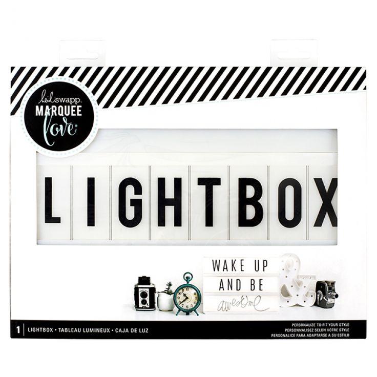 Heidi Swapp - Marquee Love { LIGHTBOX } - Lightbox White