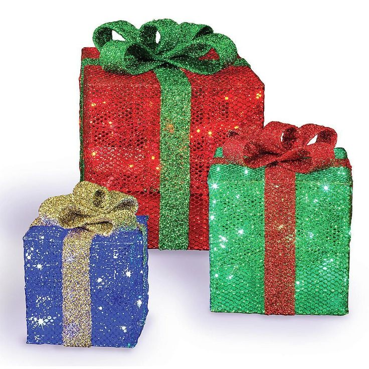 Gift Box Christmas Decorations 45 Best Christmas~~Lighted Boxes Images On Pinterest  Gift Boxes