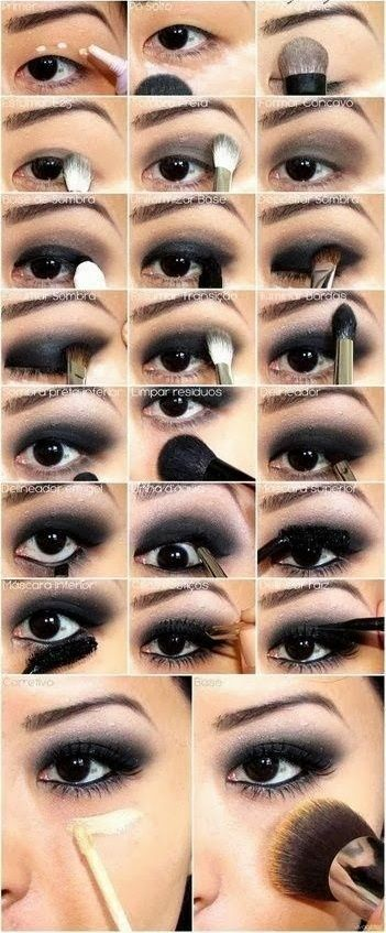 Asian smokey eyes easy step by step. Great for beginners who dont know how to do it right