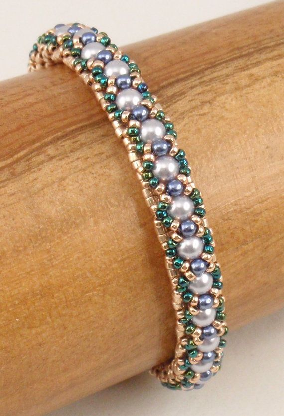 Make several of these skinny bracelets and wear them together!! This is a downloadable pdf instruction packet for Tea Time Bracelet. My