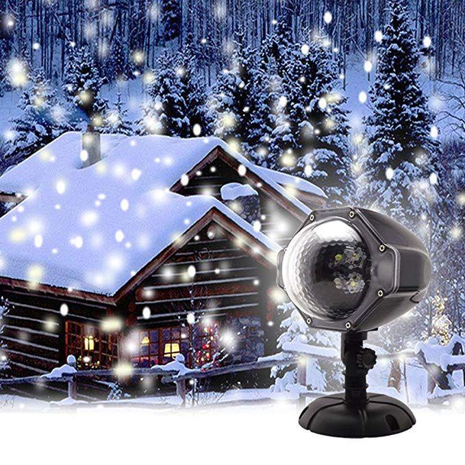 Proiettore Luci Bianche Natalizie.Gaxmi Luce Di Caduta Della Neve Natale Nuvole Bianche Di Neve Luci