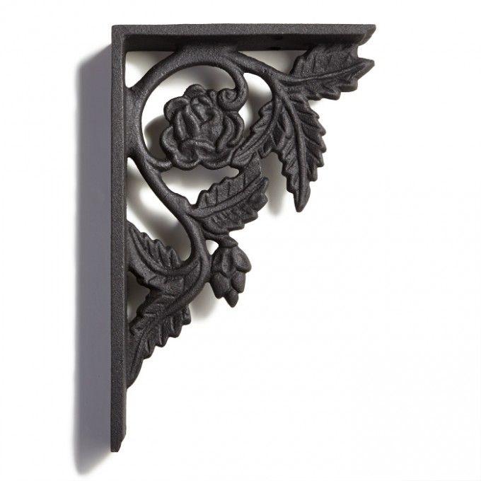 peony cast iron shelf bracket