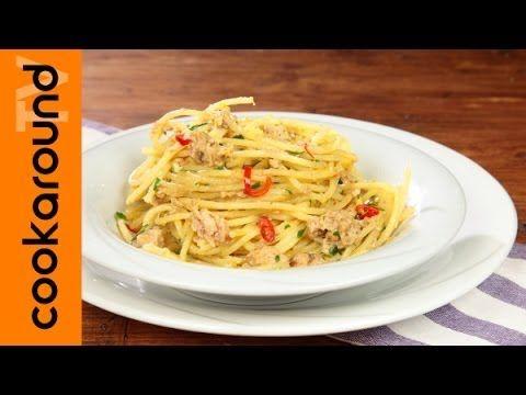 Spaghetti tonno e limone / Ricette primi semplici e veloci - YouTube