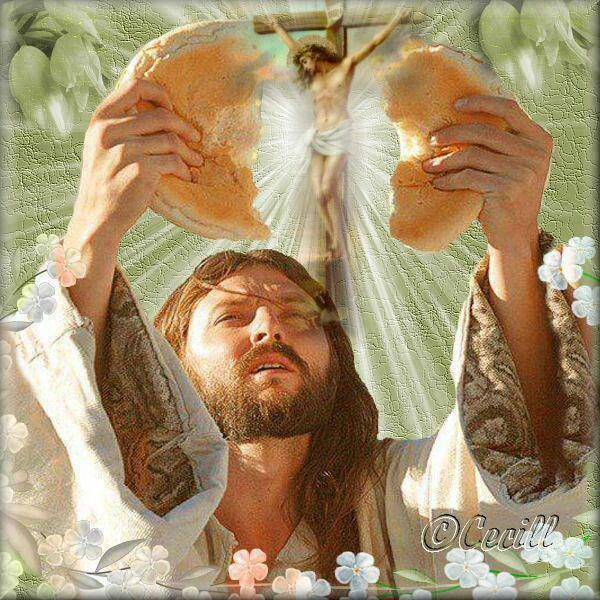 """HACED ESTO EN MEMORIA MÍA"" In the evening of Holy Thursday Mass of the Lord's Supper, begins the Easter Triduum. ""Breaking of the Bread"" 1 Corinthians 11:24 Matthew 26:26 Luke 22:19"