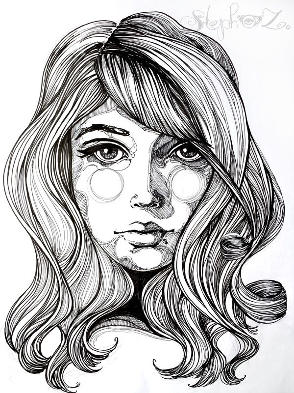 Line Art Hair : Best images about steph z art on pinterest ink