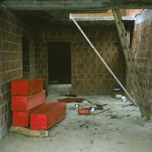 Red Coffins Glogjani, Kosovo, Disputed Territory, 2006