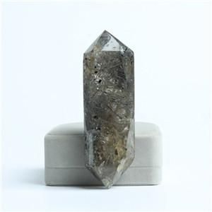TOPSALE FASHION NATURAL Rutilated quartz CRYSTAL WAND HEALING POINT