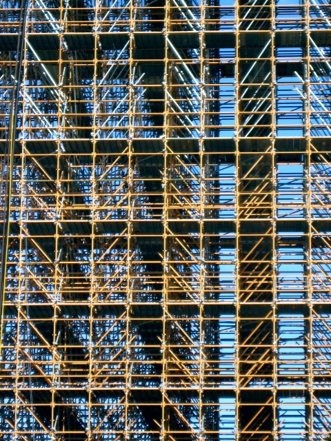 Chevron like Scaffolding