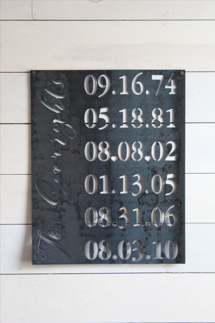 special dates birthday anniversary custom last name personalized metal sign