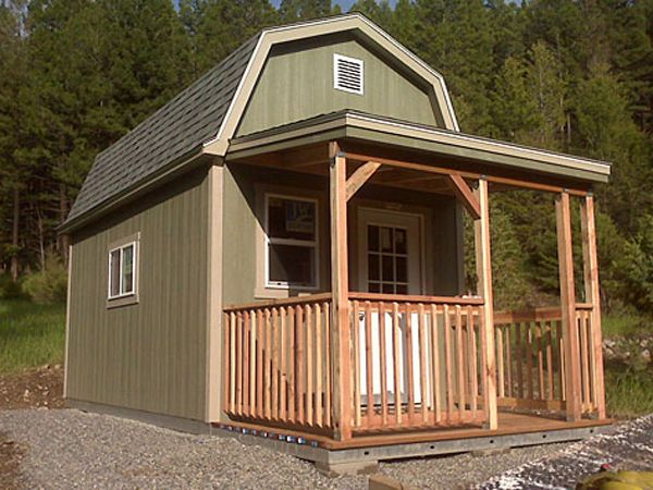 I met a guy at the Home Depot yesterday who turned one of their 2 story sheds (like this one) into a tiny house. Great idea!