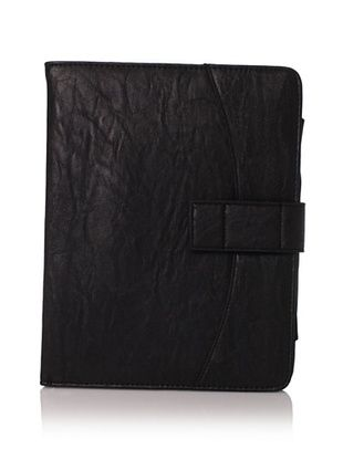 R J Handbags Women's Flap iPad Case (Black)