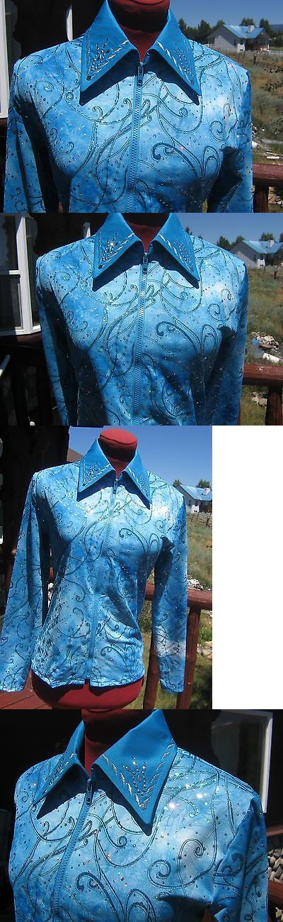 Other Rider Clothing 3167: Womens L 38 40 Turquoise Western Horsemanship Rail Pleasure Show Shirt Haulter -> BUY IT NOW ONLY: $145 on eBay!