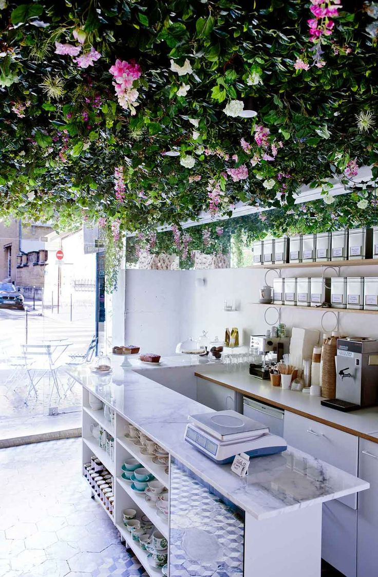 quot Lily of the Valley quot  caf   and tea room in Paris   designed by Marie Deroudilhe   Yellowtrace