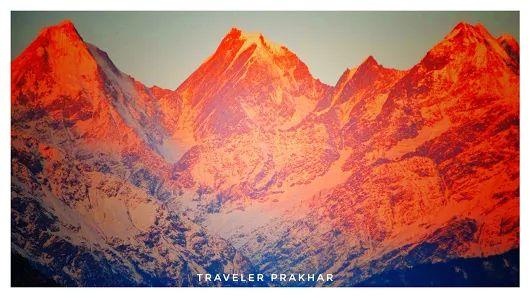 Soulitude in the Himalayas Beautiful view of Himalayas from Munsiyari......📸...