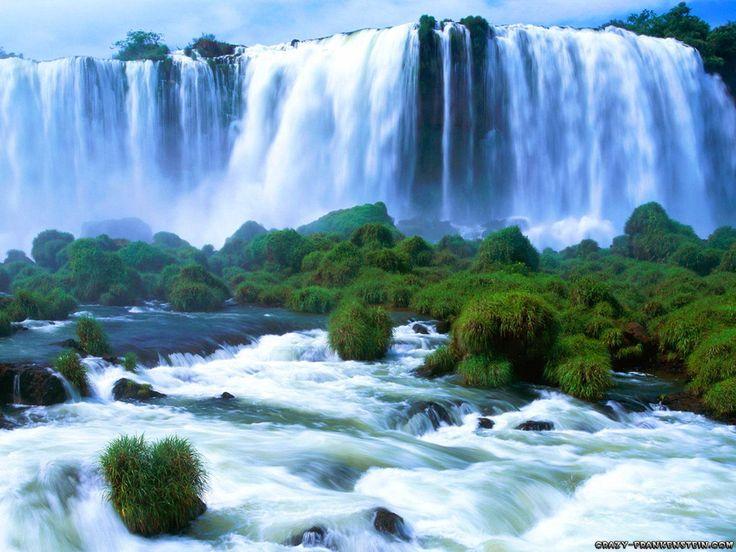 High Resolution Nature Desktop Wallpaper Of Iguassu Falls Brazil ID
