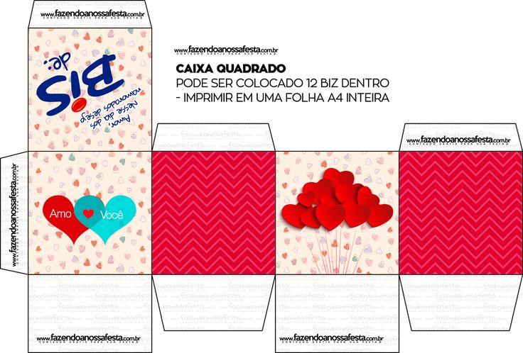 Caixa Bis Dia dos Namorados Quadrada