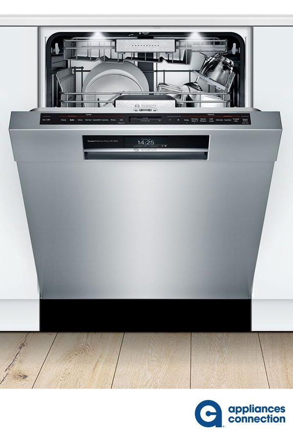 Bosch Benchmark She88pz65n Benchmark Series 24 Inch Stainless Steel Built In Semi Integrated Dishwasher Home Appliances Integrated Dishwasher Built In Dishwasher