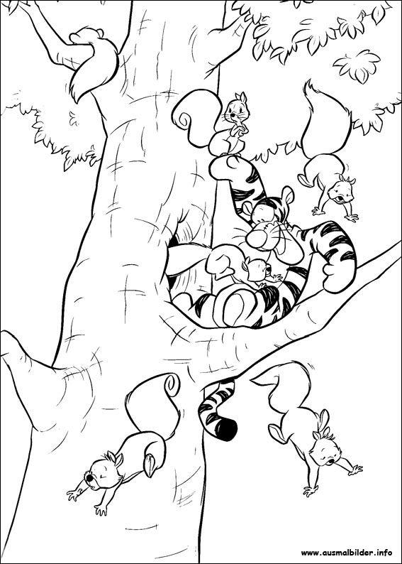 winnie puuh malvorlagen  cartoon coloring pages squirrel