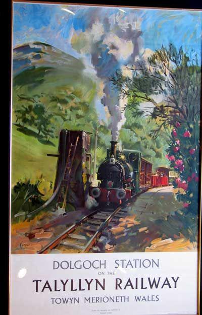 Dolgoch Station Talyllyn Railway Original Vintage Railway Poster Dolgoch Station on the Talyllyn Railway, Towyn Merioneth Wales. From the original by Terence Cuneo.16