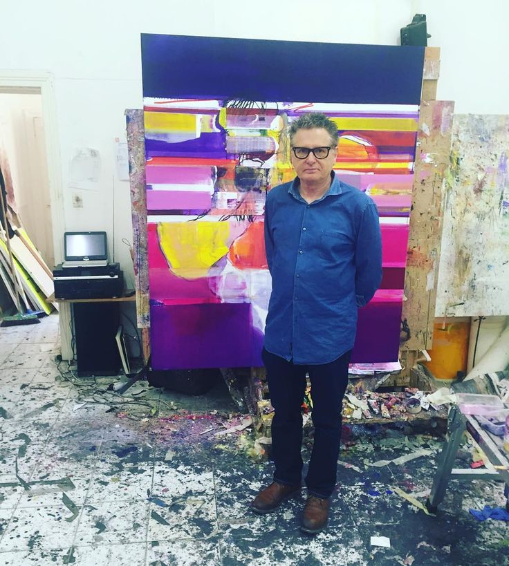 John Waller in his Melbourne studio