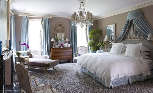 Obsessed with this bedroom by Miles Redd, simply beautiful!Dreams Bedrooms, Grey Bedrooms, Master Bedrooms, Queens Bedrooms, Dreams Room, Animal Prints, Miles Redd, Bedrooms Ideas, Beautiful Bedrooms
