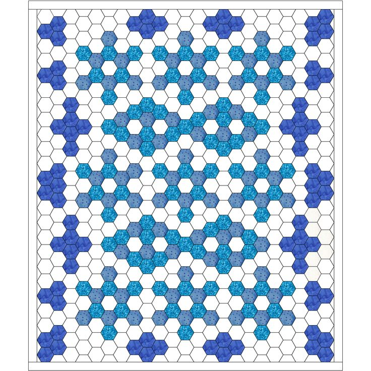 Free Quilt Pattern For Hexagon : 850 best images about hexagone on Pinterest