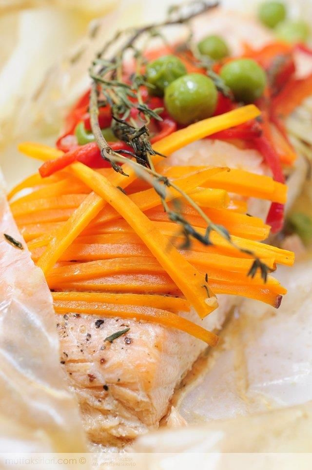 Kağıtta Somon Tarifi   Mutfak Sırları