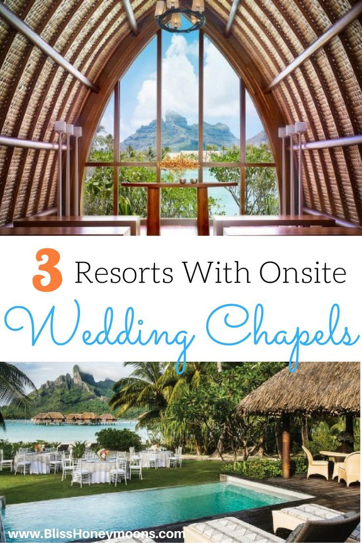 These gorgeous resorts with onsite wedding chapels are incredible! Love this simple comparison of 3 top resorts for destination weddings, featuring their onsite wedding chapels. Simply bliss, just like these destination wedding travel agents!
