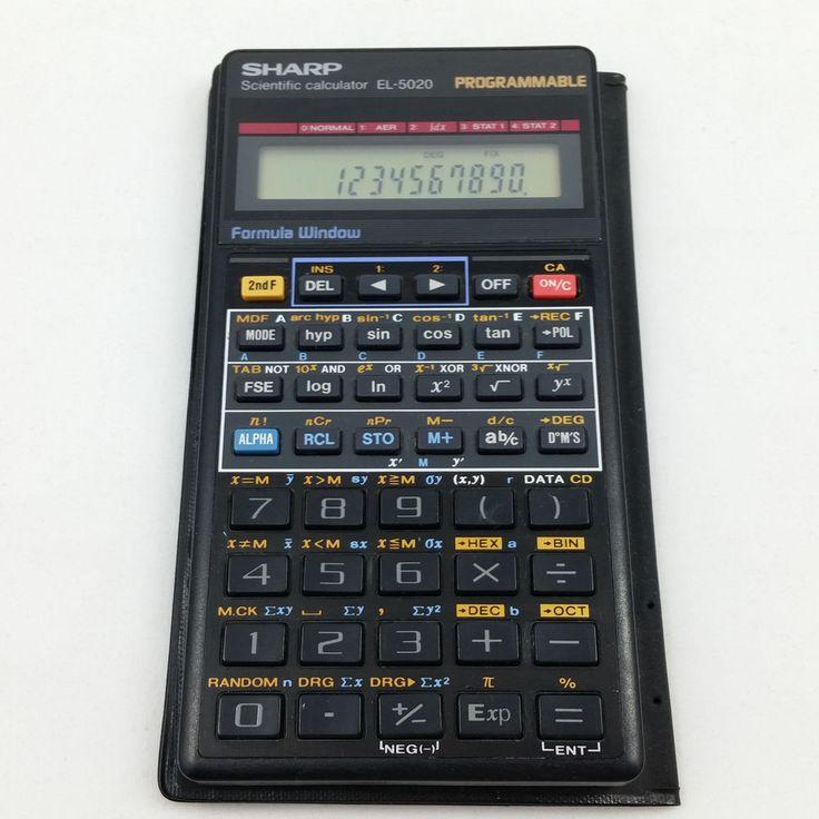 Sharp EL-5020 Handheld Scientific Calculator Programmable Tested Working #Sharp