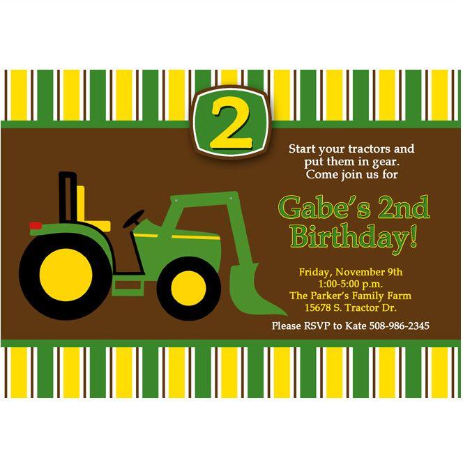 Best John Deere Birthday Ideas Images On Pinterest Children - John deere 2nd birthday party invitations