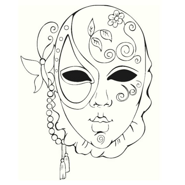 Coloring Pages For Adults Masks : Vention mask coloring pages for adults best free