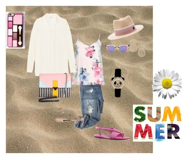 """""""From Town to Beach"""" by tomominakamura48 on Polyvore featuring ファッション, Dorothy Perkins, Fendi, Vince, Maison Michel, Iceberg と Nine West"""