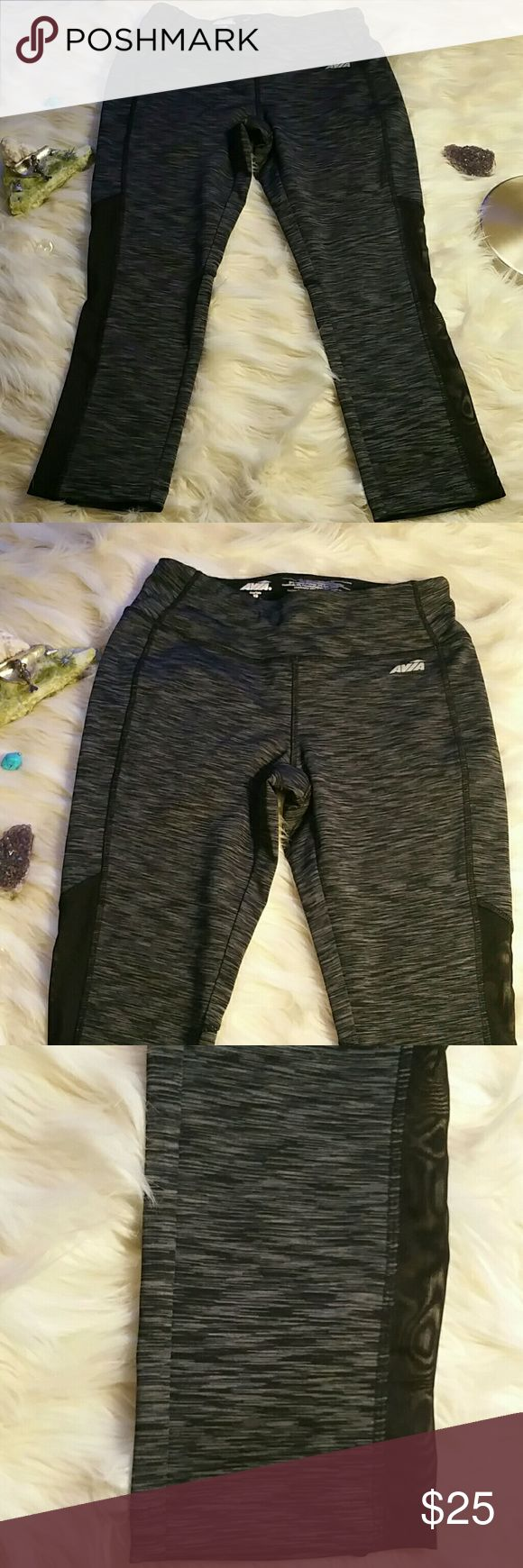 💕Hot Yoga Leggings Brand new never worn 7/8 crop fitted leggings Drawstring inside waist Black mesh against charcoal grey So flattering and pretty on Size XS fits the same as a 4 in lululemons wunderunders Sweat wicking for workout Love these but just never wear!  I have the Victoria's Secret Strappy charcoal sports bra listed seperate. It's a size Small. Bundle the two items for the complete look💕  💕Bundle w any item SAVE 5%💕  Alo, lulu, mika, electric, manduka, nike, Adidas, under…
