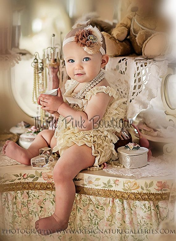 Cream Lace Petti Romper lace petti romper petti by ThinkPinkBows, $16.95. This site has the cutest stuff.