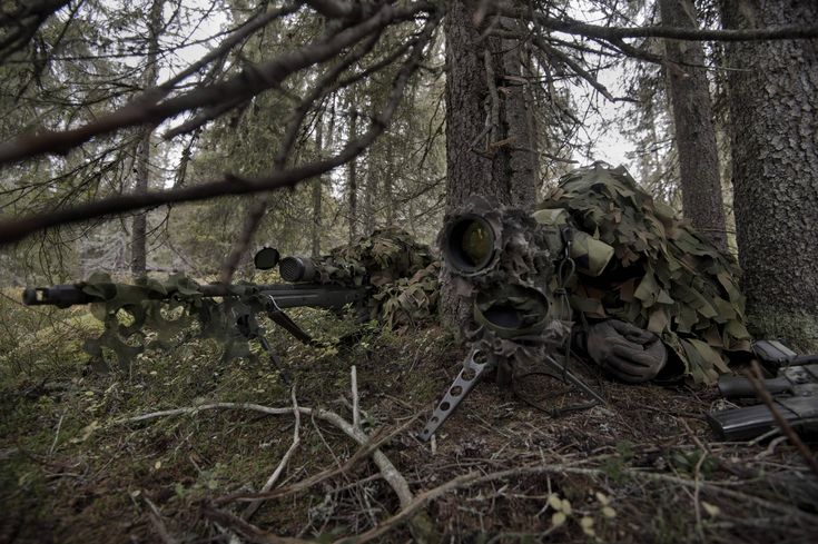 A sniper pair with the Swedish Army Ranger Battalion. [2957x1968]
