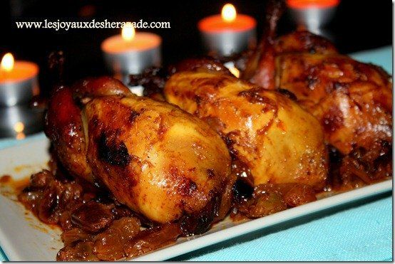 Recette de cailles aux raisins recette recettes de - Cuisiner un chapon au four ...