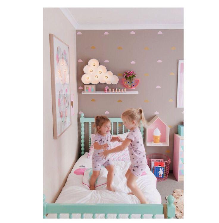 børneværelse mint pastel pompom honningkube børneværelse blog