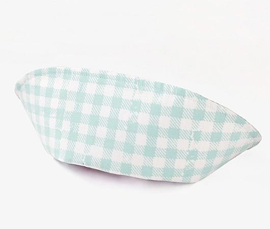 Keisuke Kanda nurse cap (stripes of light blue and purple gingham)