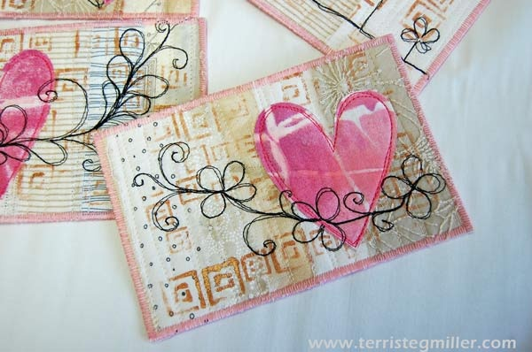 Terri Stegmiller Art Quilts: Valentine's Day Postcard Tutorial