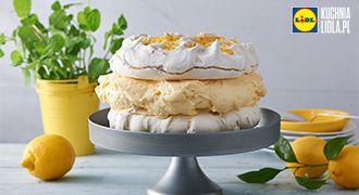 Bezowy tort cytrynowy. Kuchnia Lidla - Lidl Polska. #pawel #beza #cytryna