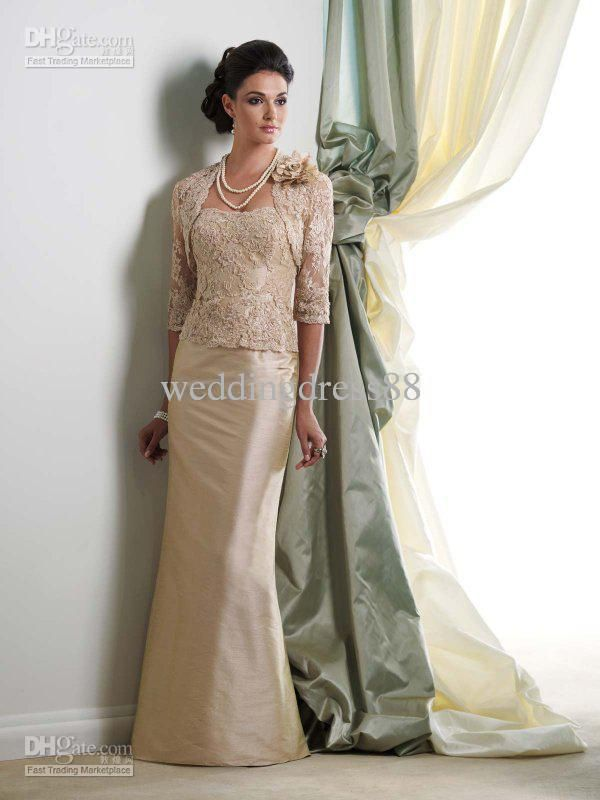 Wholesale New Strapless Bride Mother Dresses Wedding Gown Mother Of The  Bride Dress With Lace Jacket
