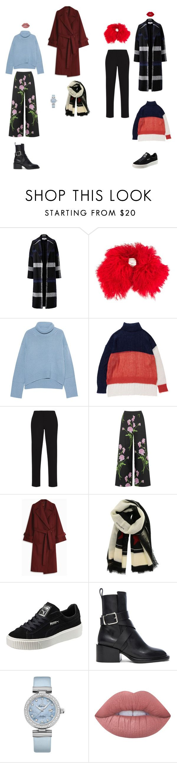"""winterwalks"" by neiman-bags on Polyvore featuring мода, Helene Berman, Moncler, iHeart, BCBGMAXAZRIA, Warehouse, The Row, Givenchy, Puma и Jil Sander"