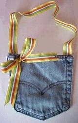 Recycled Jean Pocket Purse DIY Craft Project