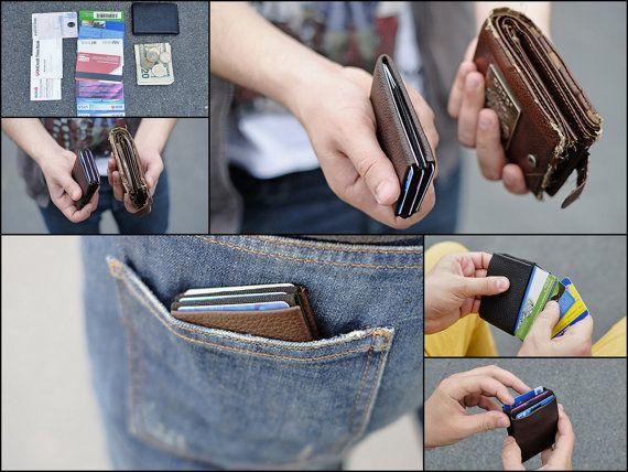 RFID Wallet Mens Wallet Minimalist Wallet Womens Wallet